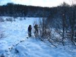 Переход по снежному плато