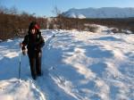 Глубина снега на нижнем плато была от 10 до 25 сантиметров
