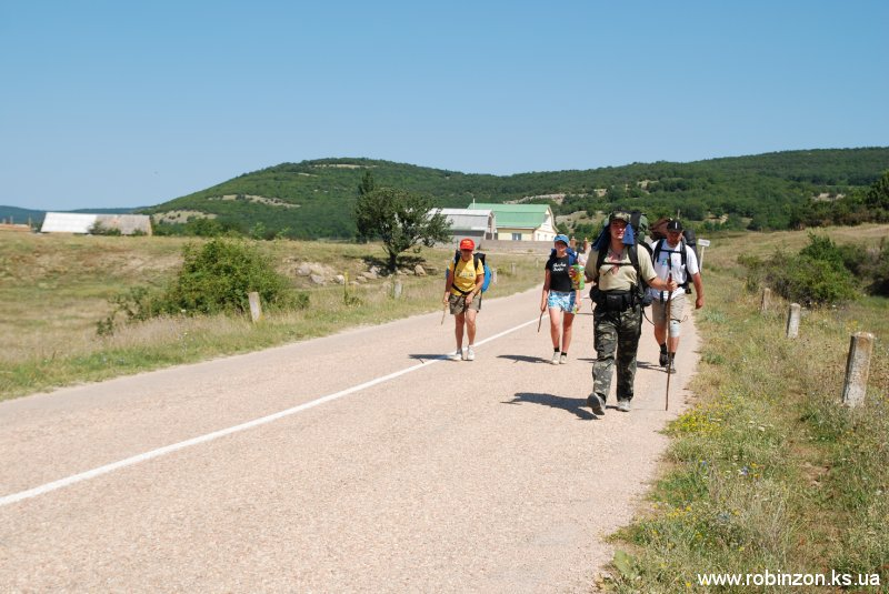 Туристический поход со студентами по юго-западному Крыму (июль 2010)