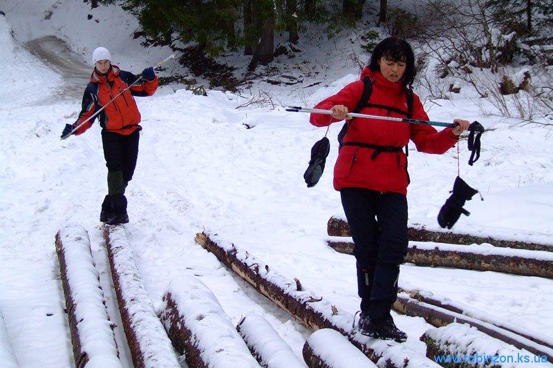 Тренировка на брёвнах, 31 января 2010