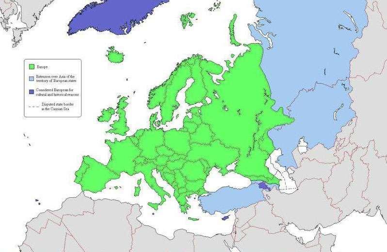 Карта Европы по версии ru.wikipedia.org