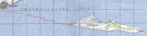 Карта путешествия по острову Джарылгач