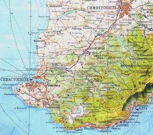 Карта путешествия по Юго-Западному Крыму