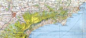 Карта путешествия по Восточному Крыму